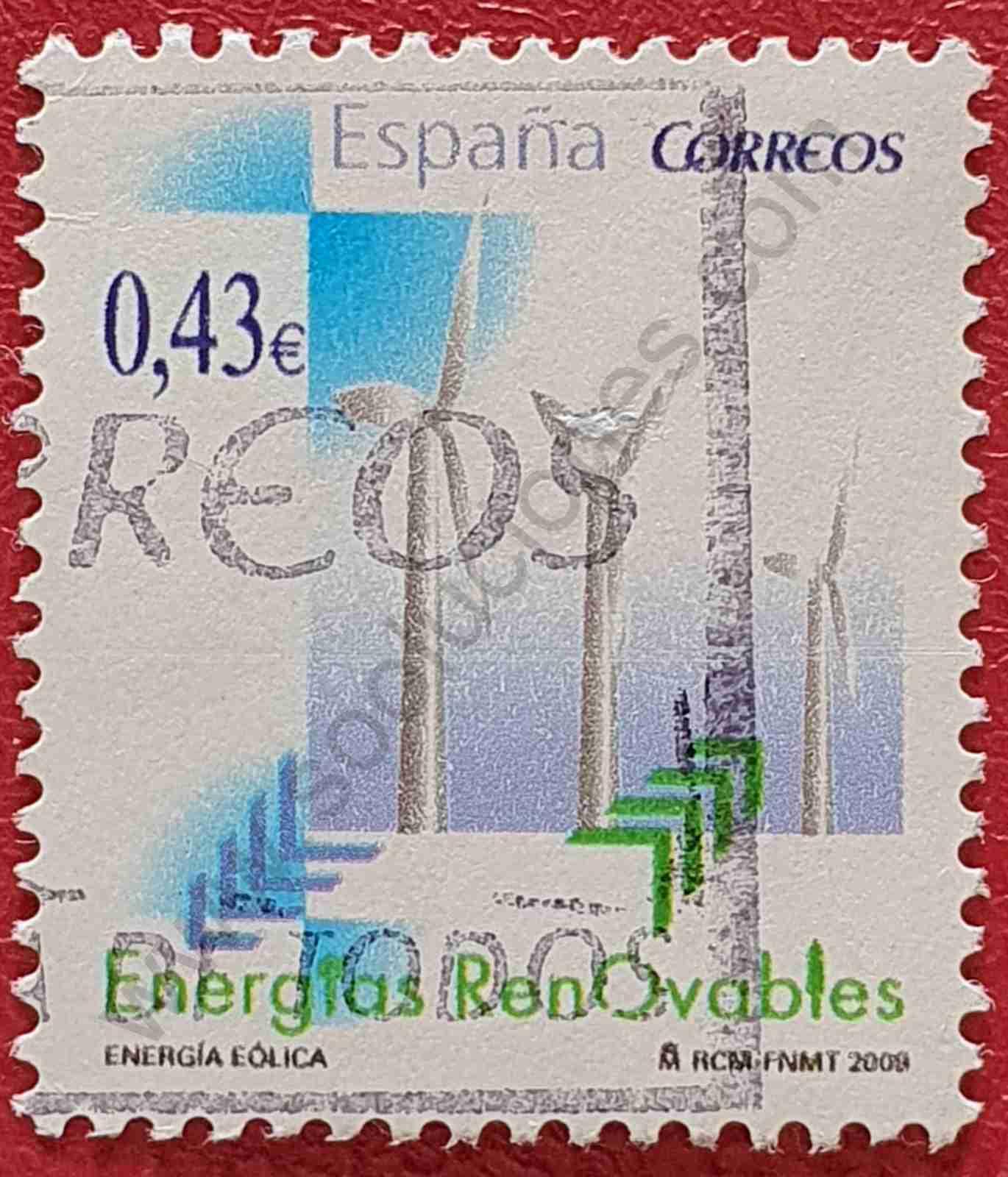 Turbinas eólicas - Sello España 2009