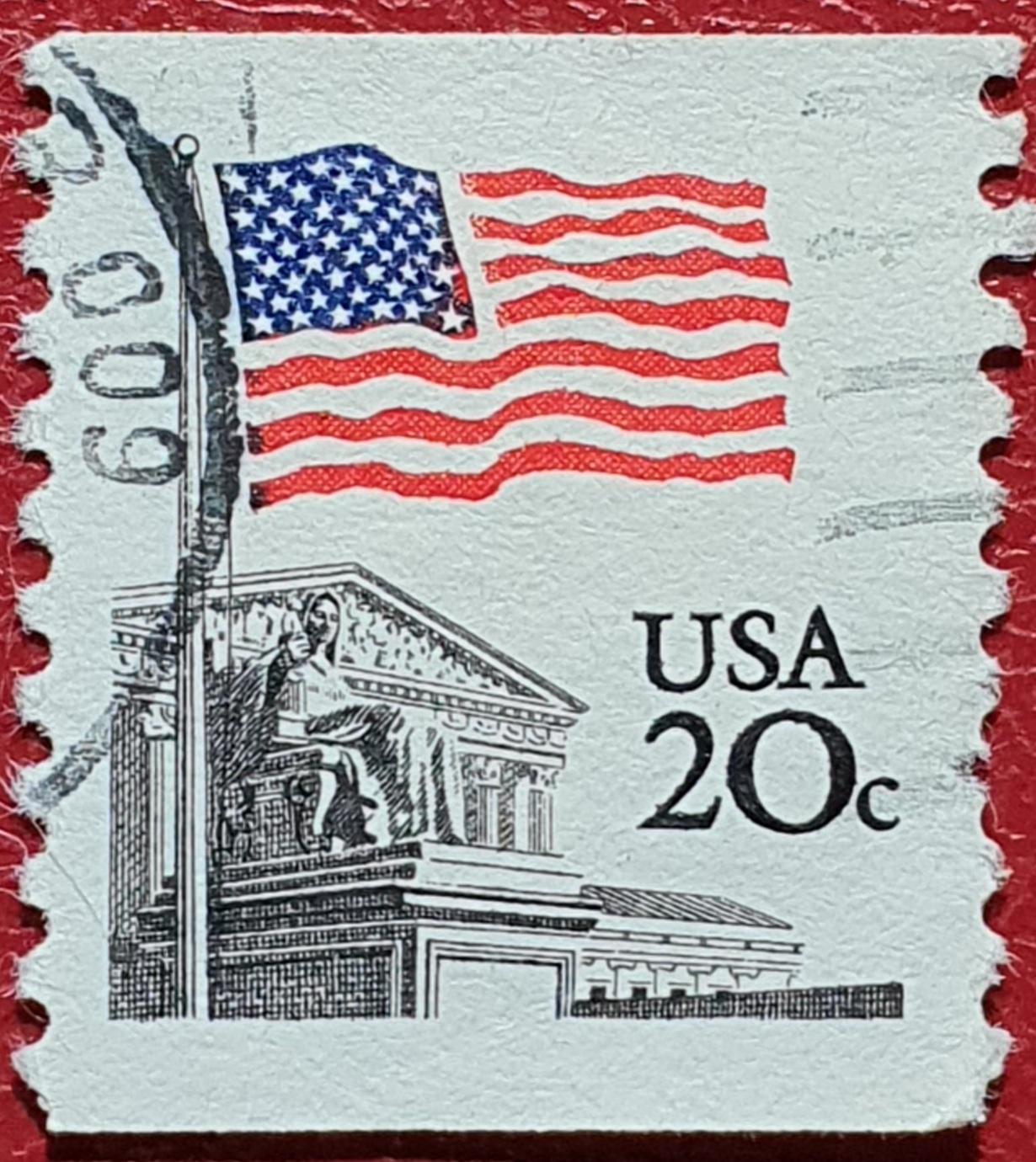 Bandera sobre la Corte Suprema - Sello Estados Unidos 1981