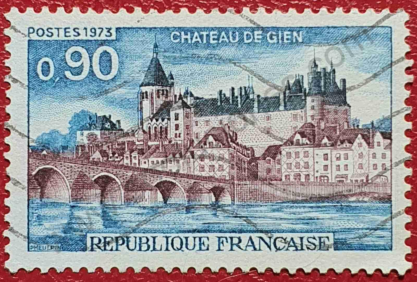 Castillo de Gien - Francia - Sello de 1973