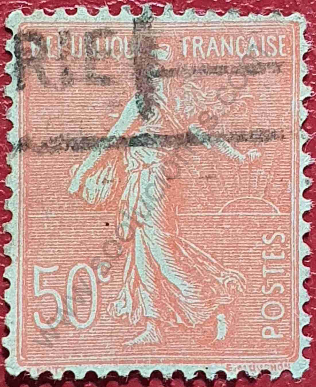 Sembradora 50c - Sello Francia 1926