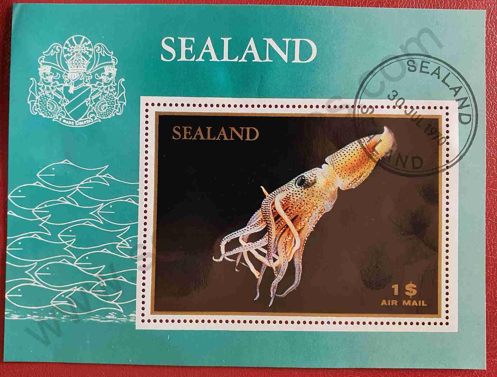 Calamar - Sello Sealand 1970