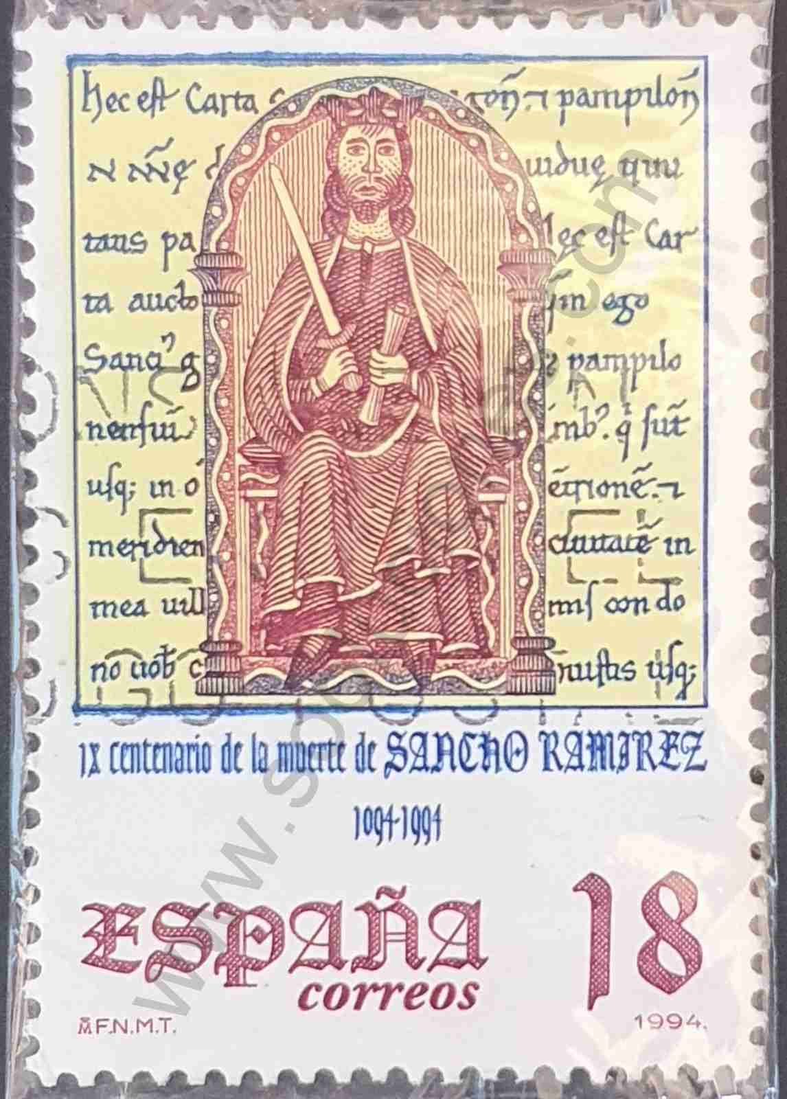 900 aniversario del Rey Sancho - Sello España 1994