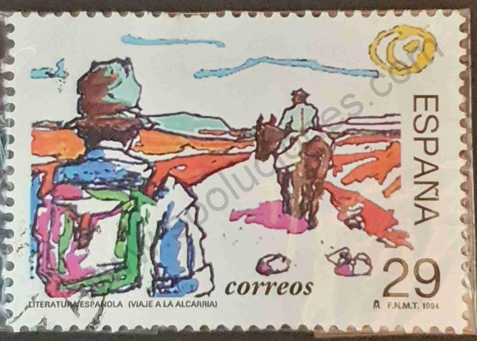 Viaje a la Alcarria - sello España 1994