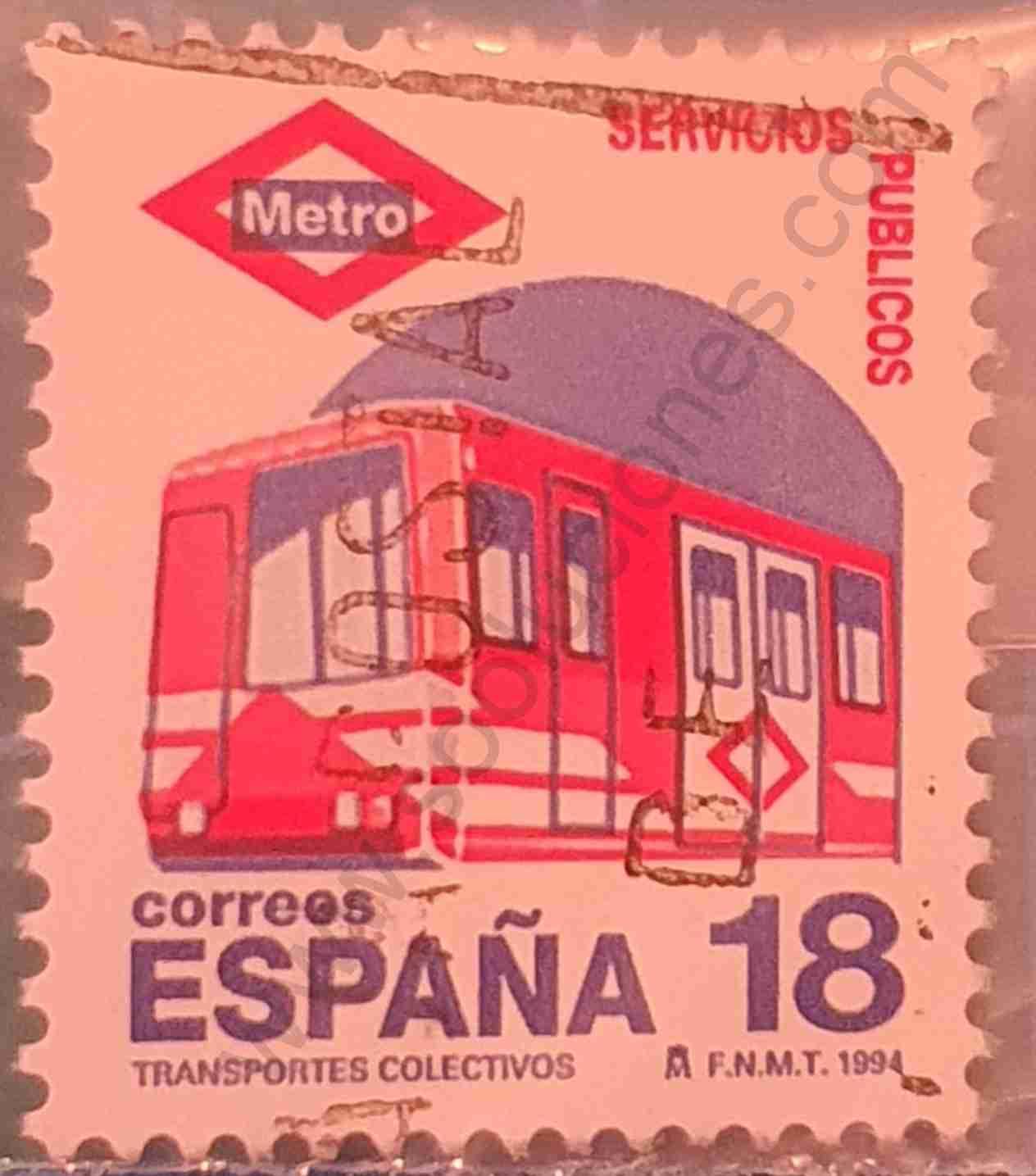 Metro de Madrid - Sello España 1994