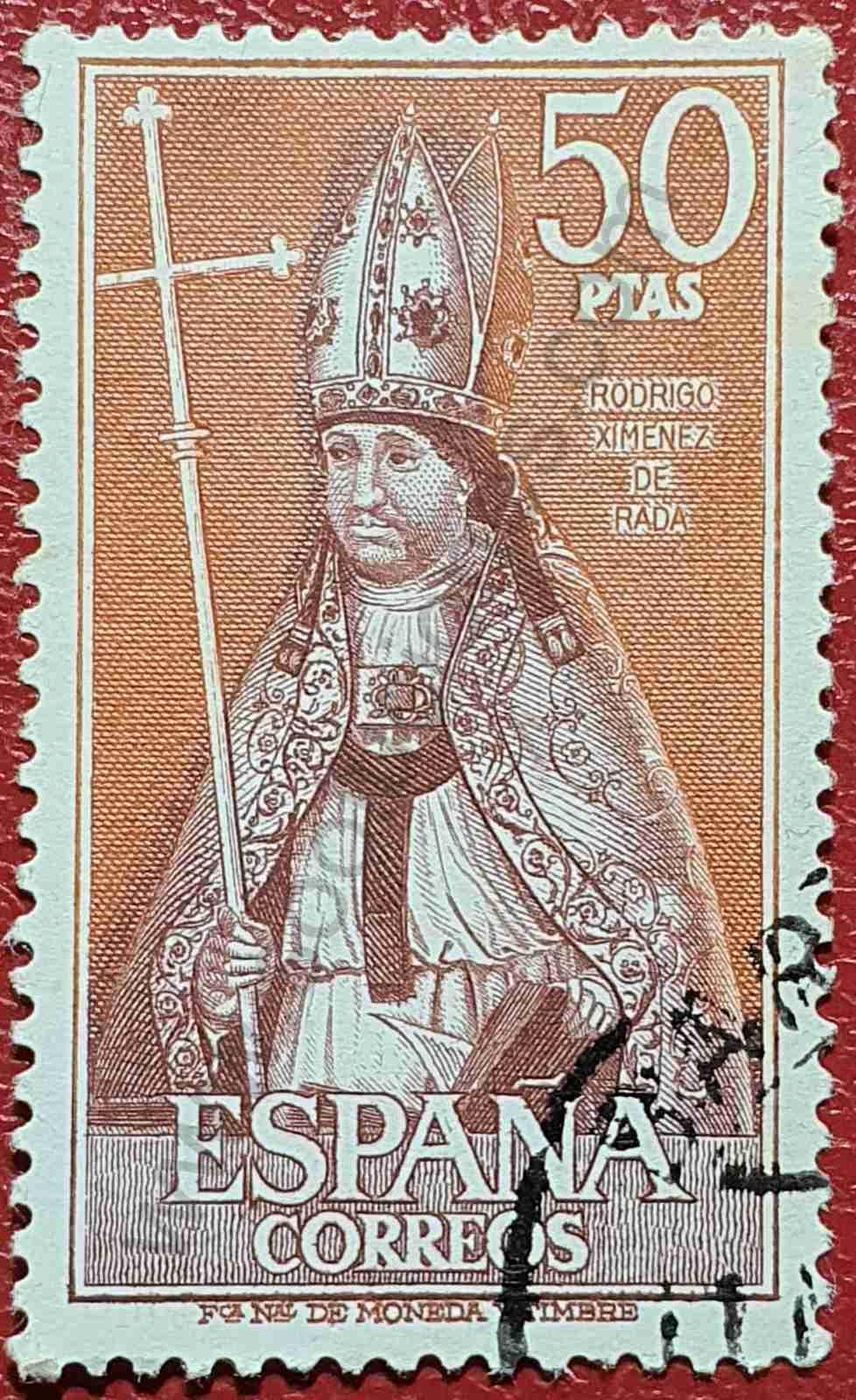 Rodrigo Ximénez de Rada - Sello España 1970
