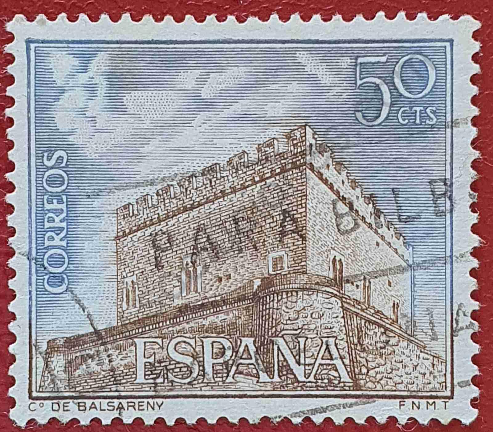 Castillo Balsareny - Sello España 1967