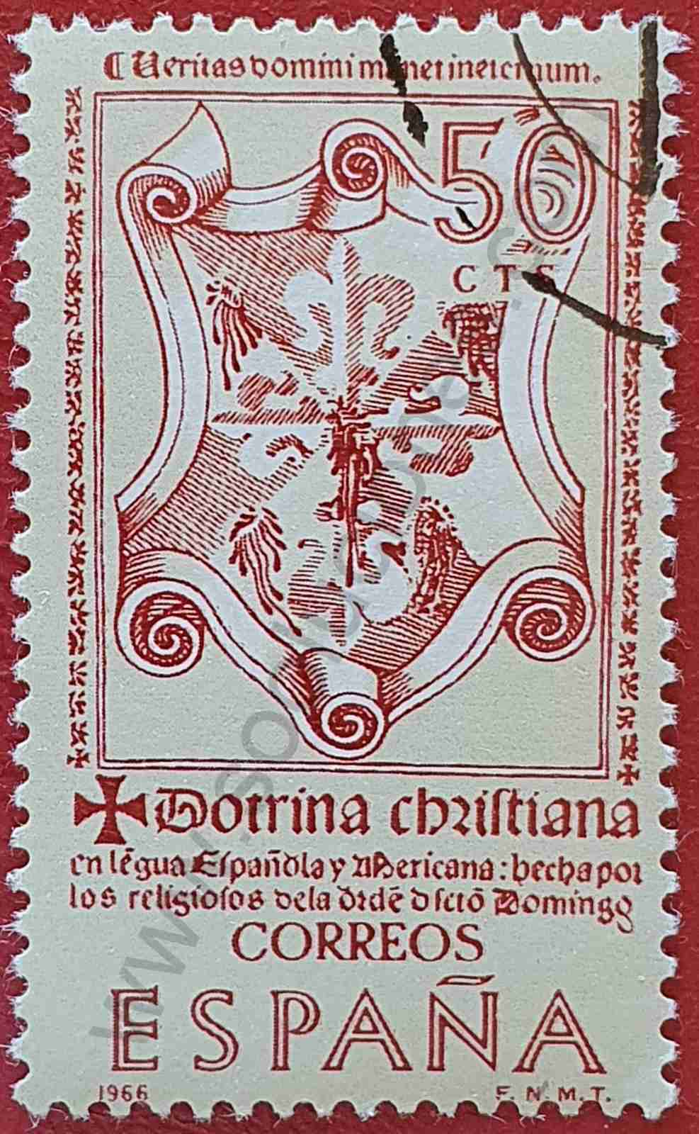 La doctrina Cristiana - Sello España 1966