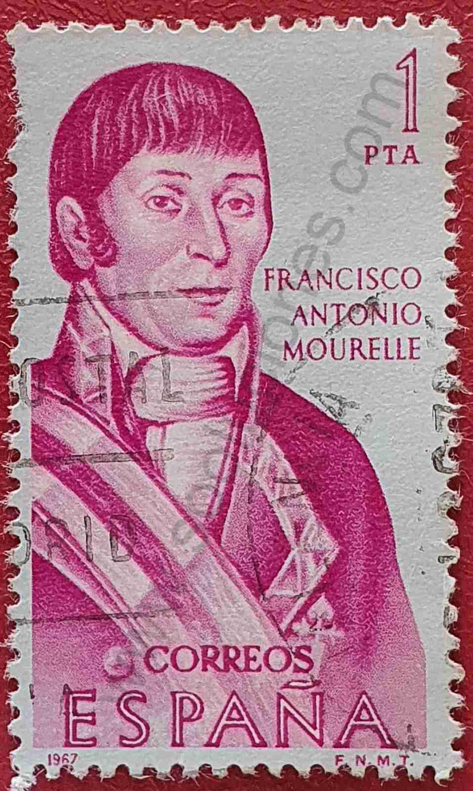 Francisco Antonio Mourelle - Sello España 1967