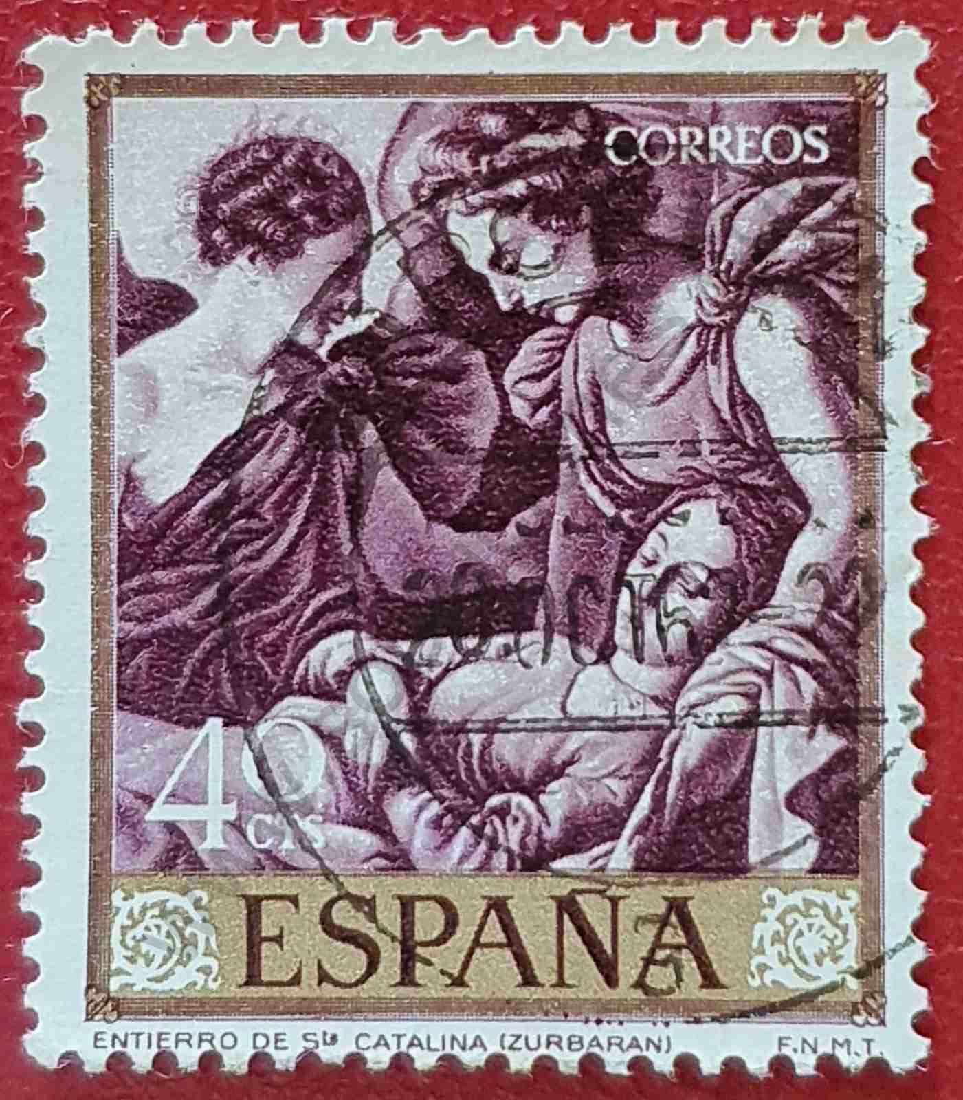 Entierro de Santa Catalina - Sello España 1962