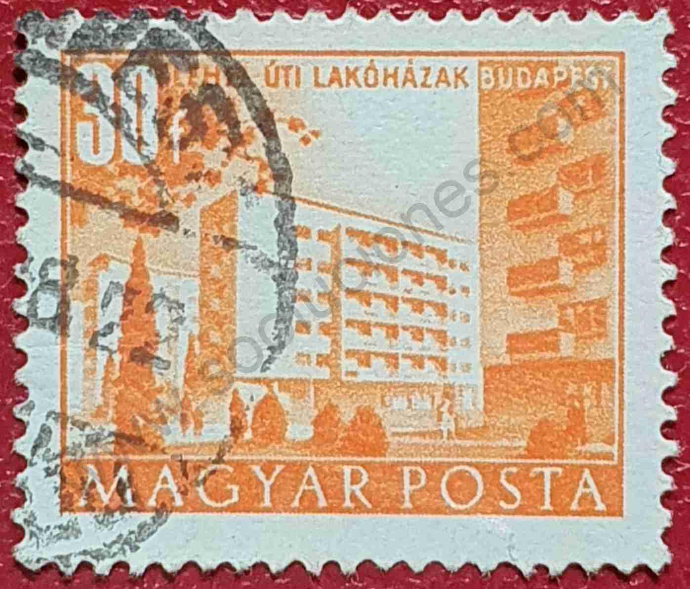 Habitaciones modernas - Sello Hungría 1951