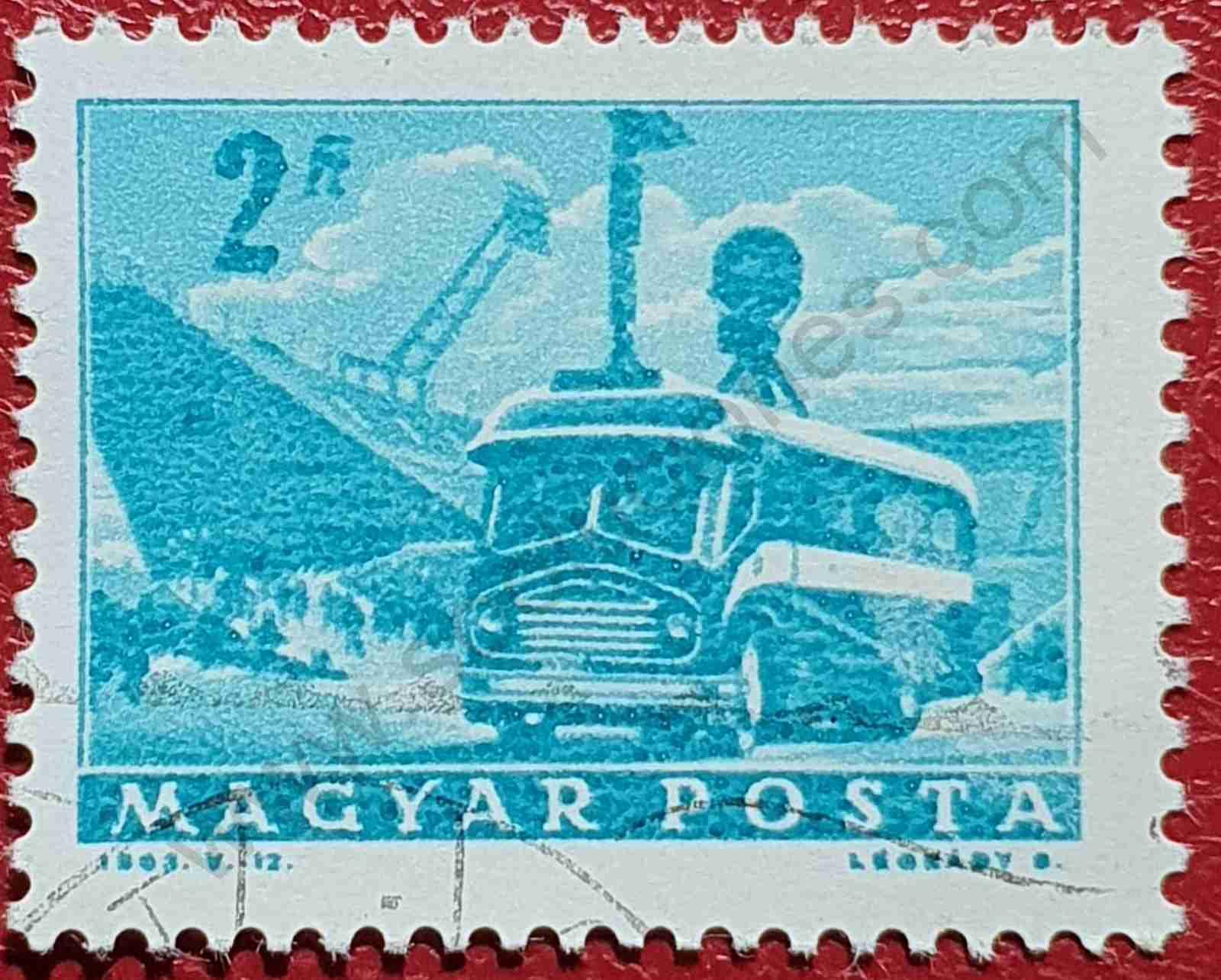 Autocar de televisión - Sello Hungría 1963
