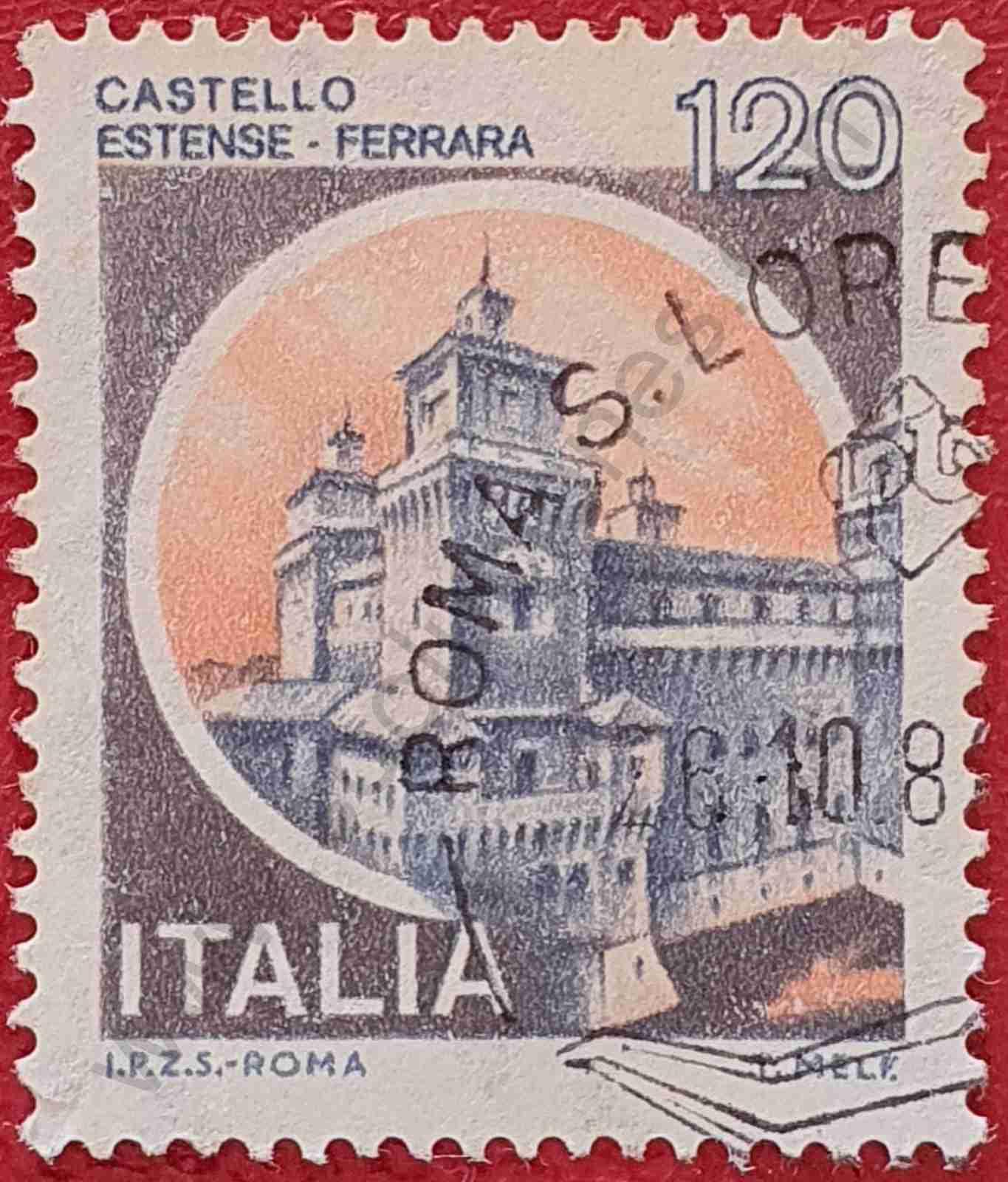 Castillo Estense - Sello Italia 1980