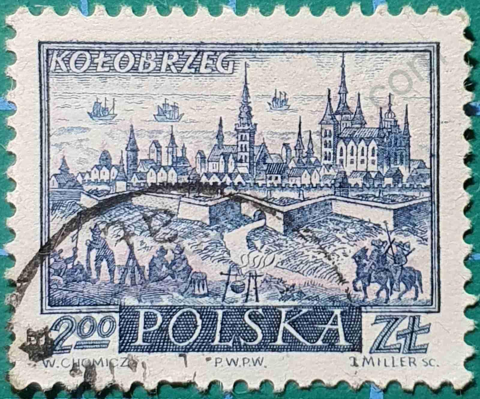Kolobrzeg - Sello Polonia 1960