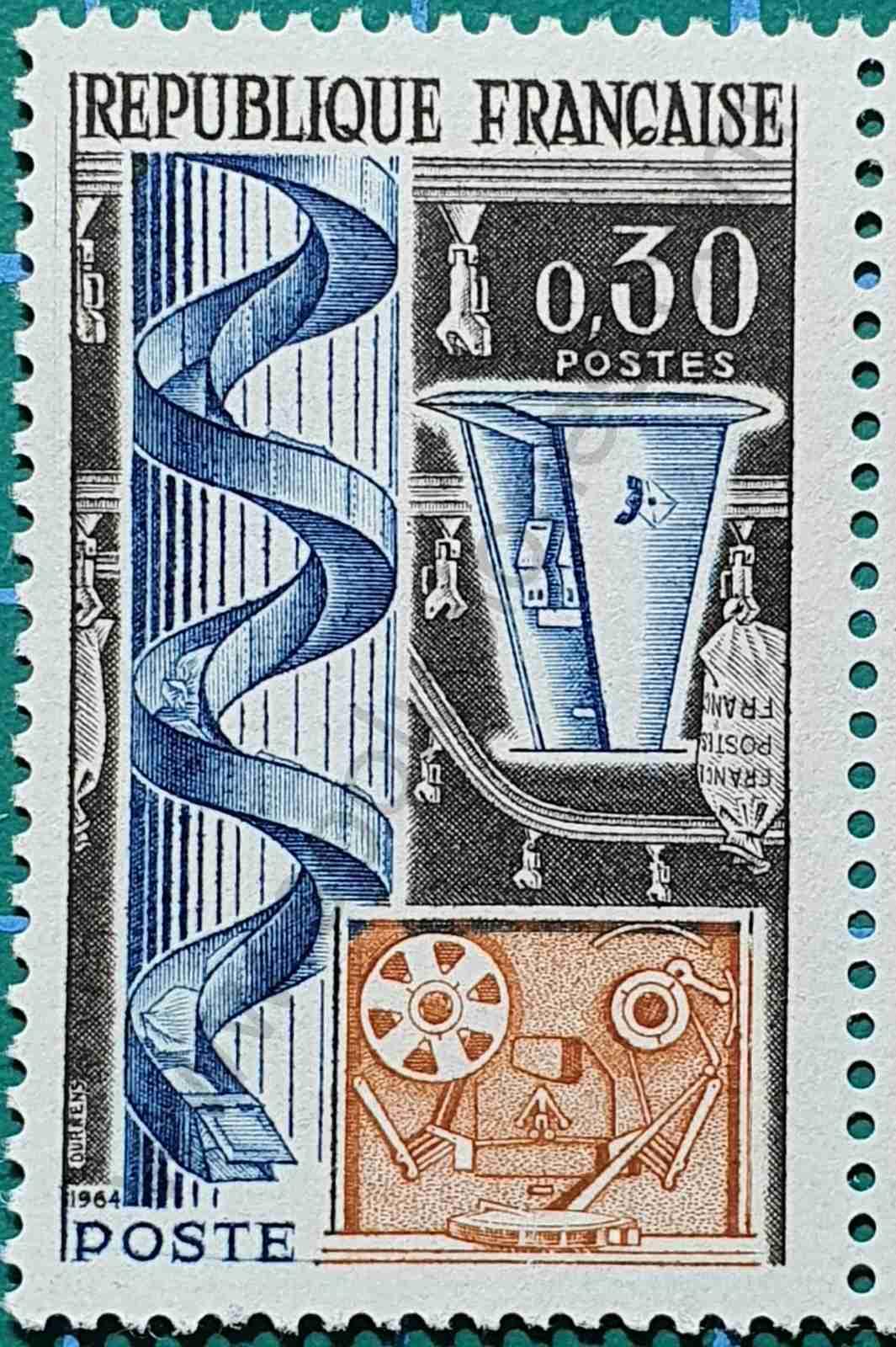Máquinas de correo - Sello Francia 1964