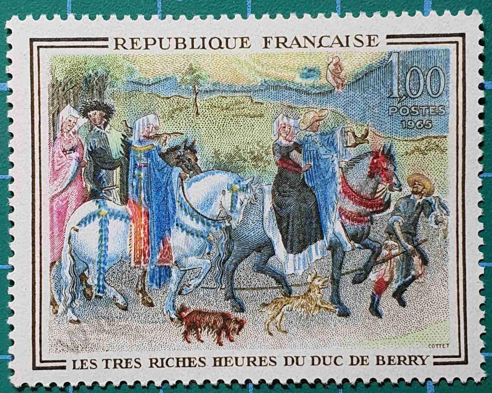 Sello Francia 1965 - Pintura 1f
