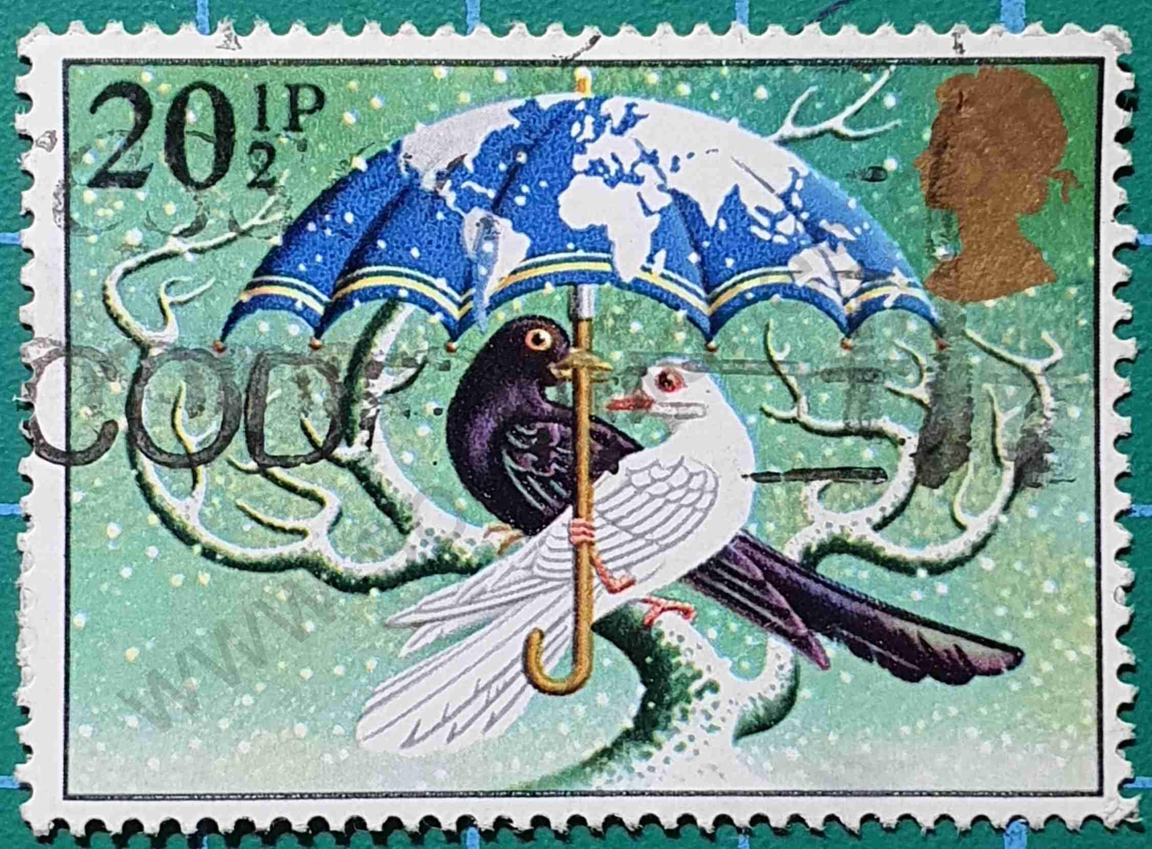 Palomas Blanca y Negra - Sello Reino Unido 1984