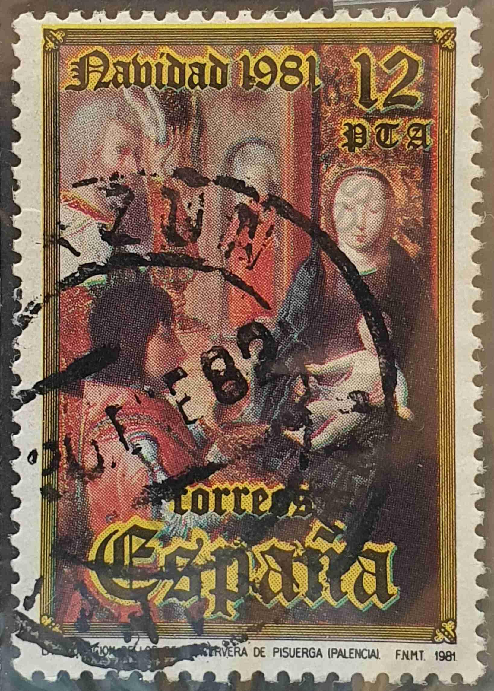 Adoración de los Reyes - Cervera - Sello de España 1981