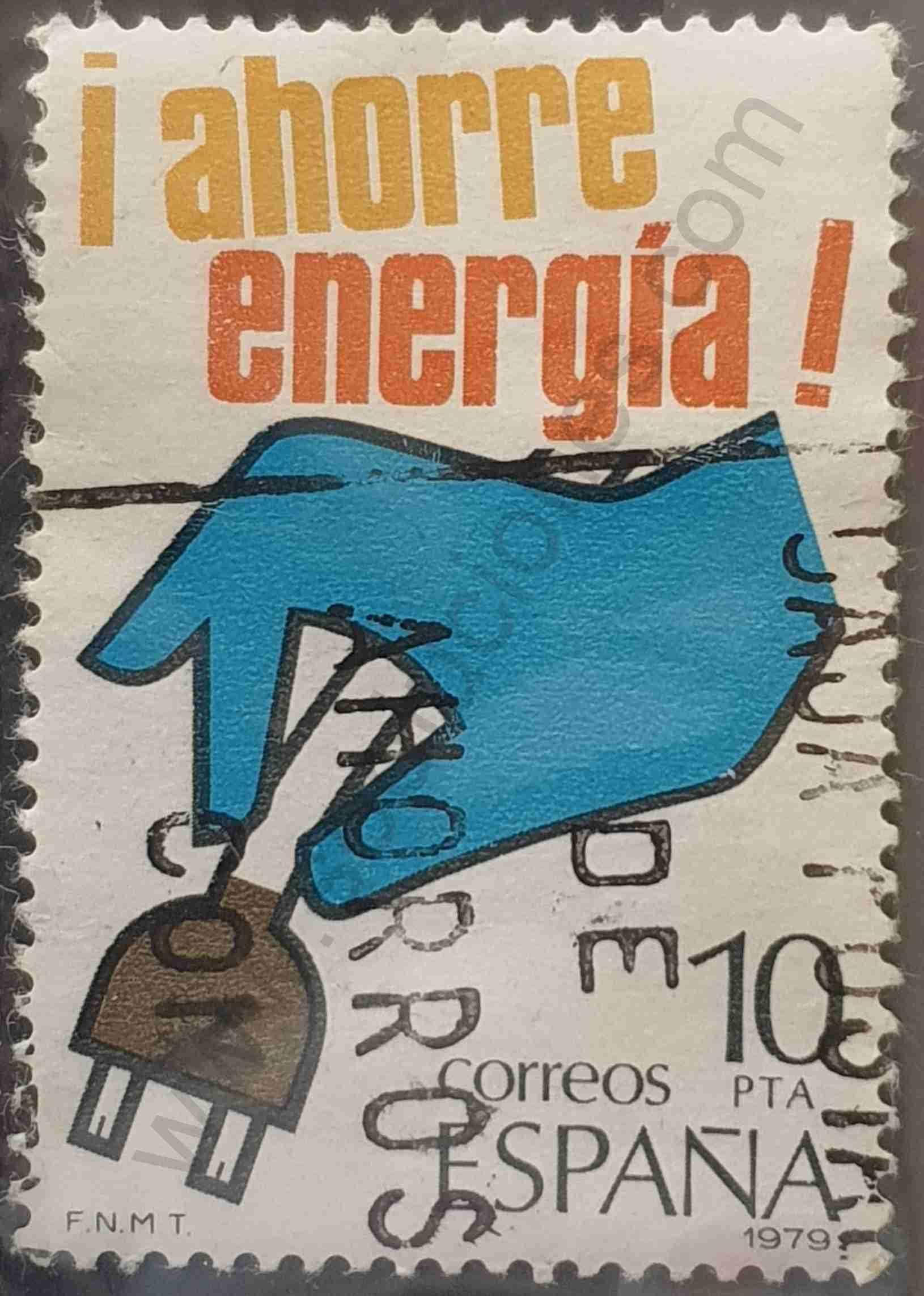 Ahorre energía - Mano - Sello España 1979