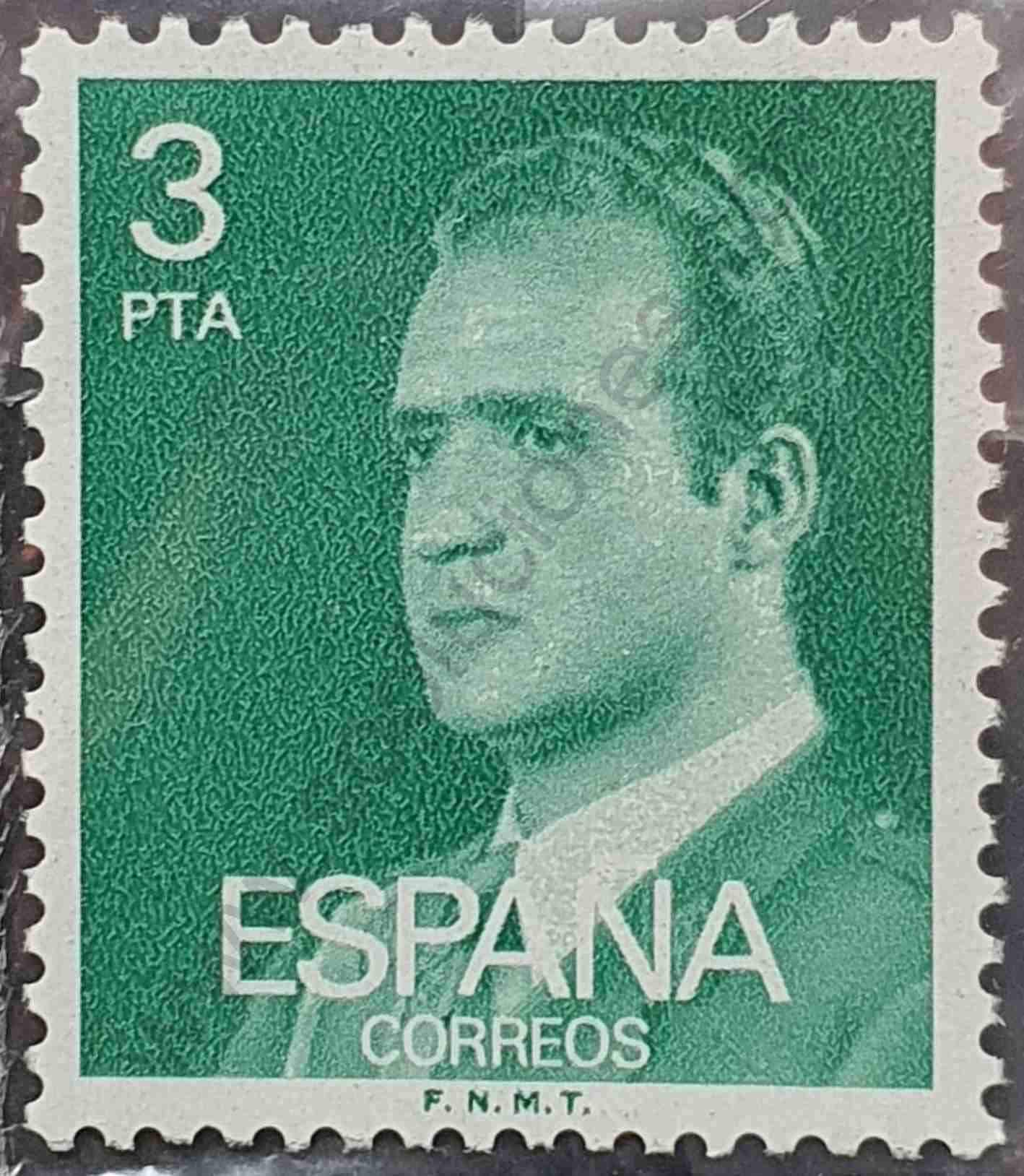 Juan Carlos I 3Ptas - Sello España 1976