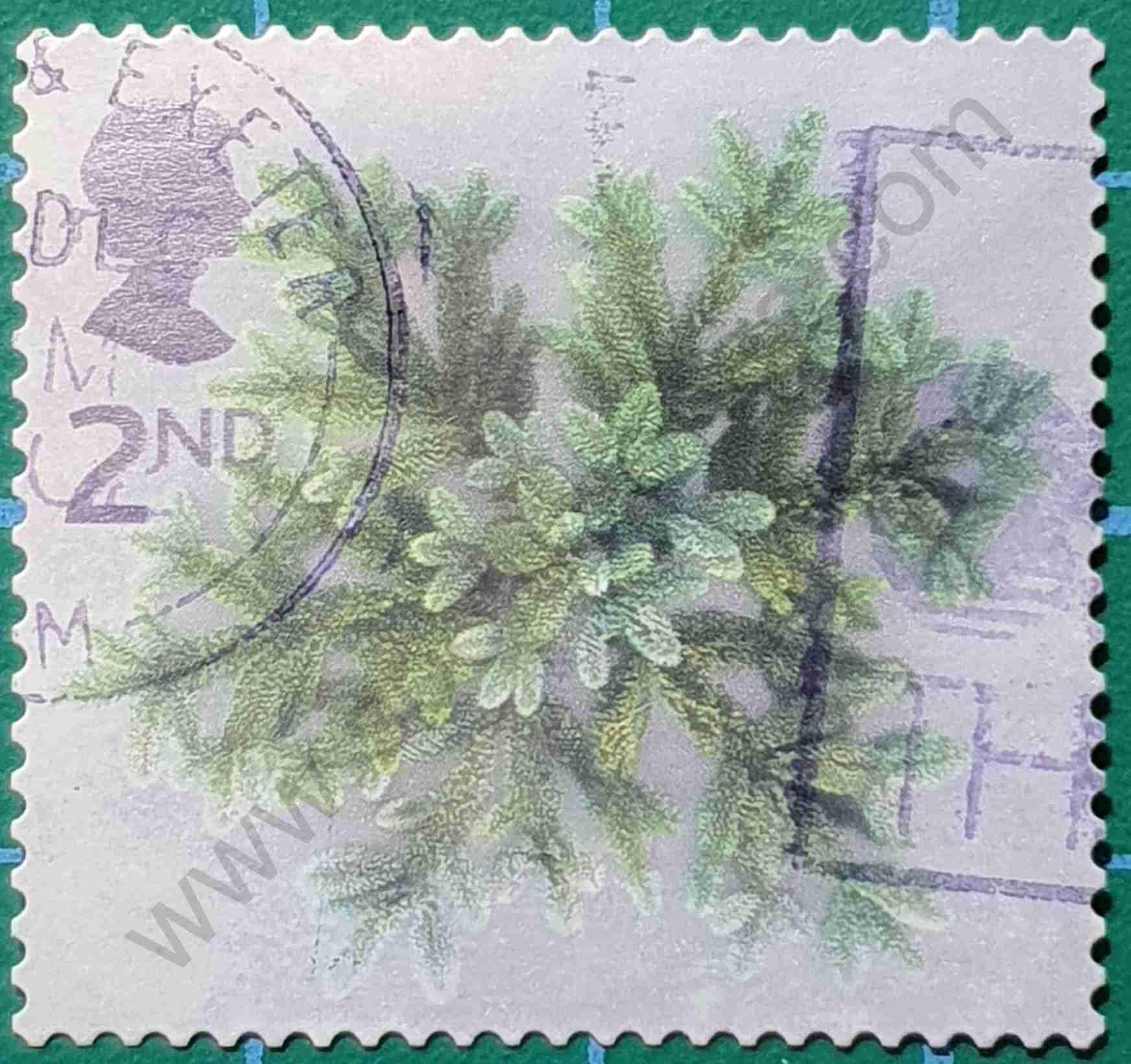 Ramas de abeto - Sello Reino Unido 2002