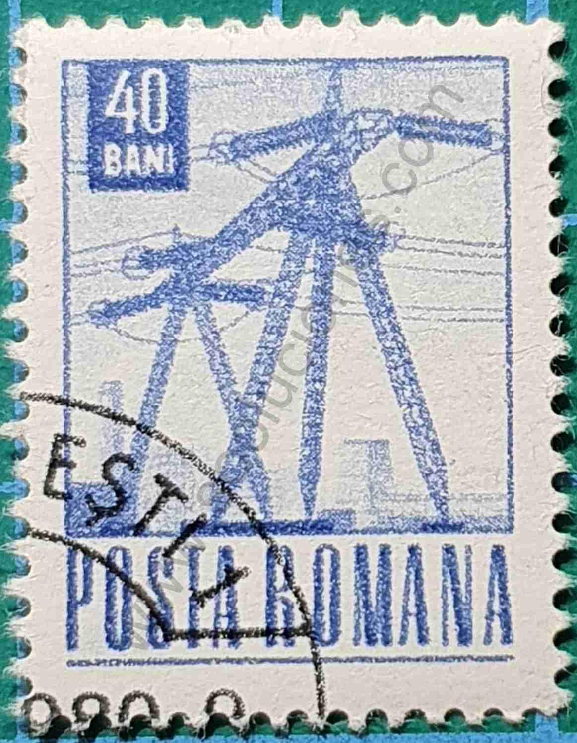 Torres eléctricas - Sello Rumania 1969