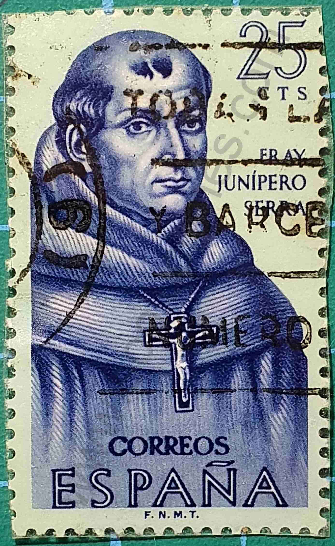 Fray Junípero - Sello España 1963