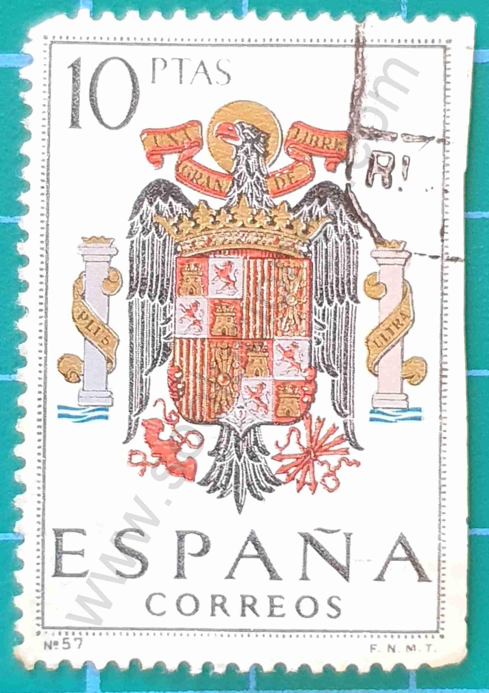 Escudo de armas 10Ptas - Sello España de 1966