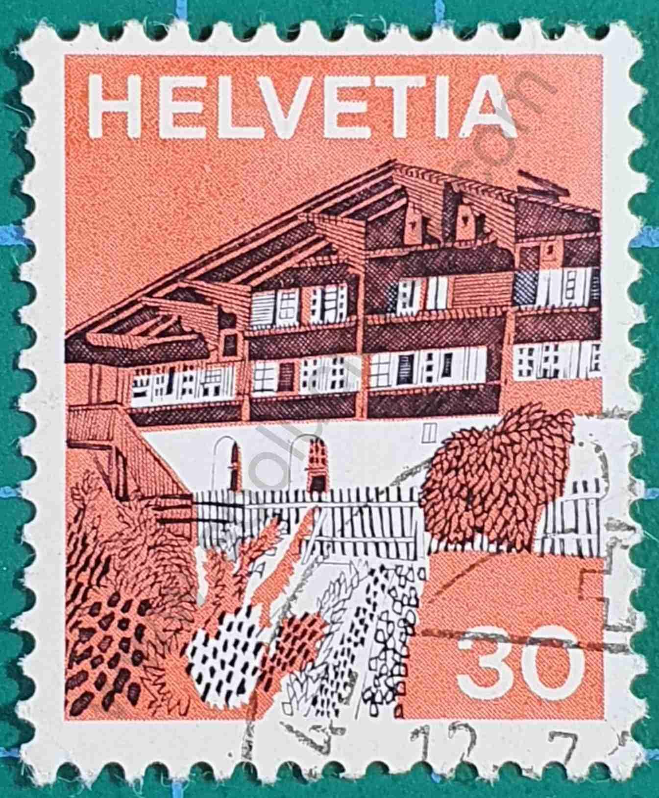 Erlenbach in Simmental - Sello Suiza 1973