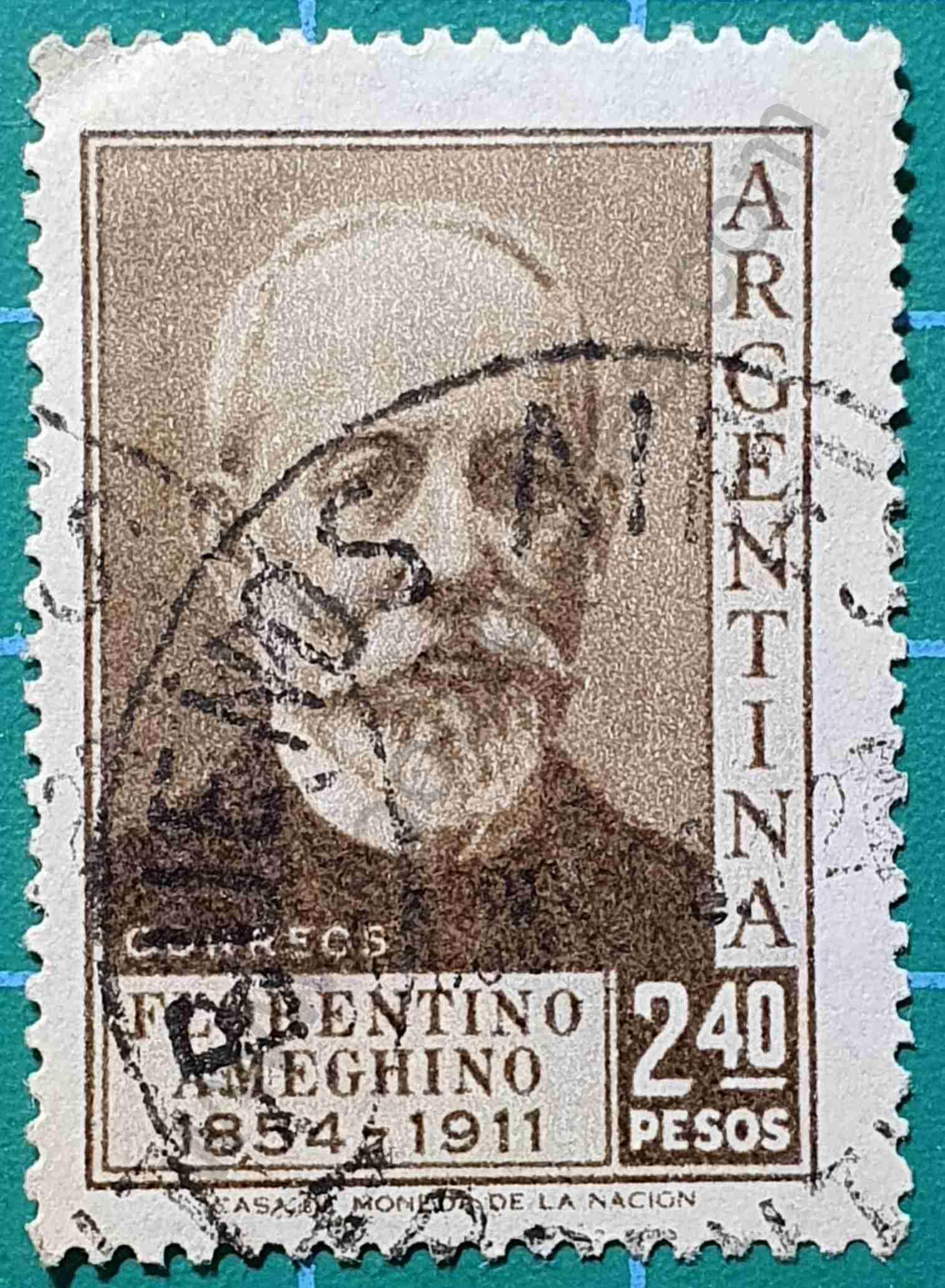 Florentino Ameghino - Sello Argentina 1956