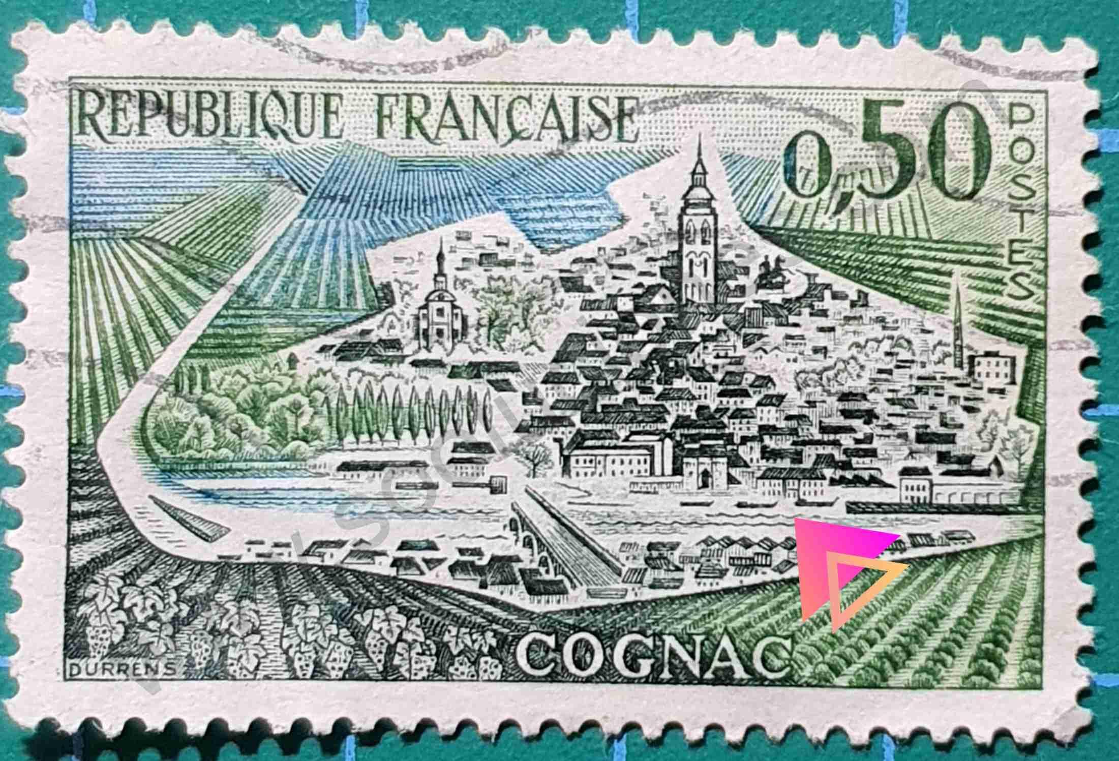 Cognac - Sello Francia 1961