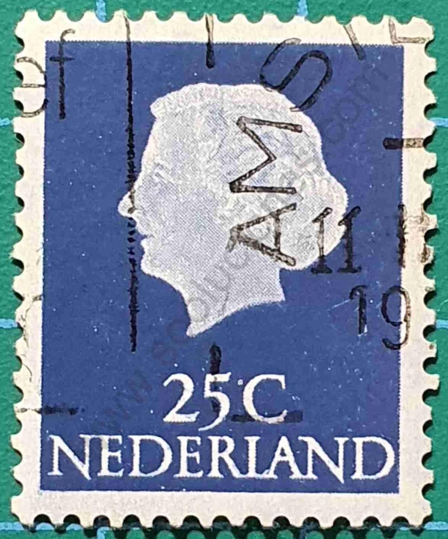 Reina Juliana 25c - Sello Países Bajos 1969