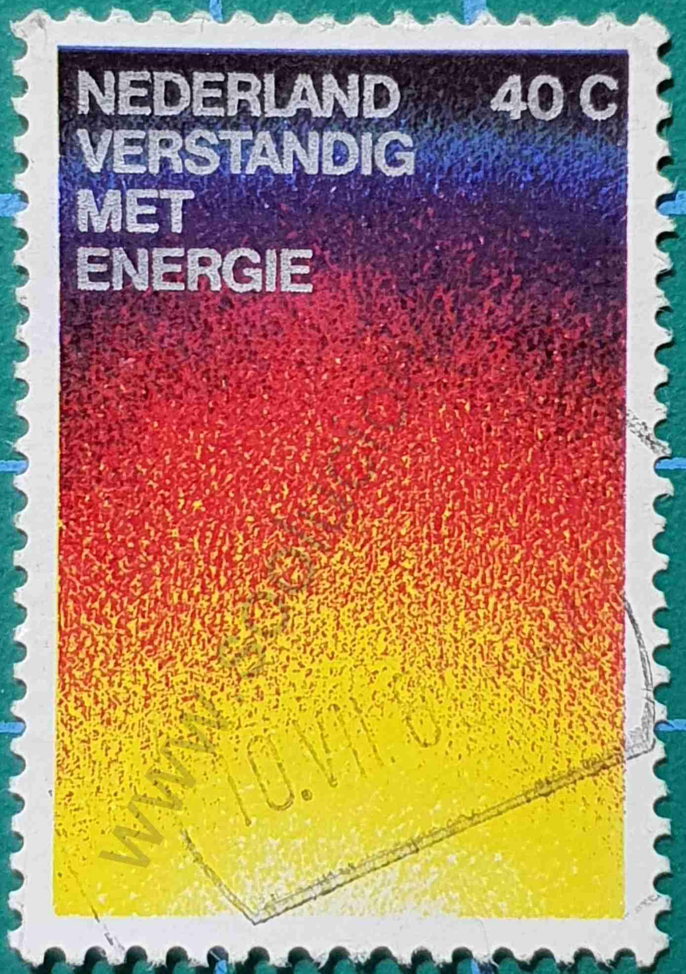 Conservación de la energía - Sello Países Bajos 1977