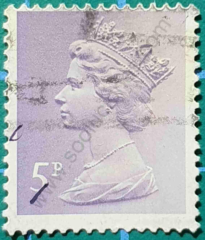 Elizabeth II 5p - Sello Reino Unido 1979