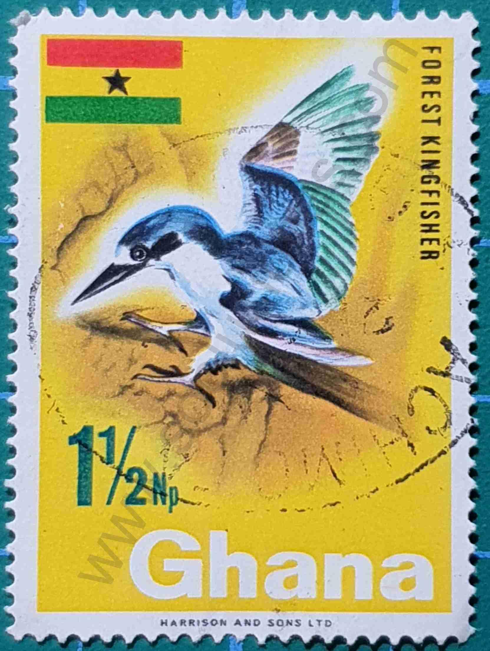 Martín Pescador - Sello Ghana 1967