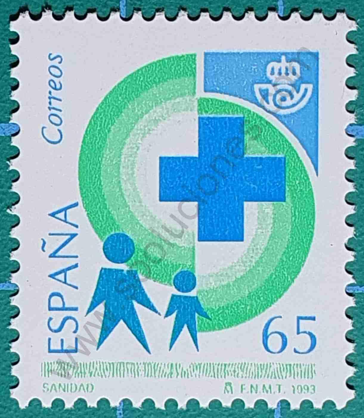 Sanidad - Sello España 1993