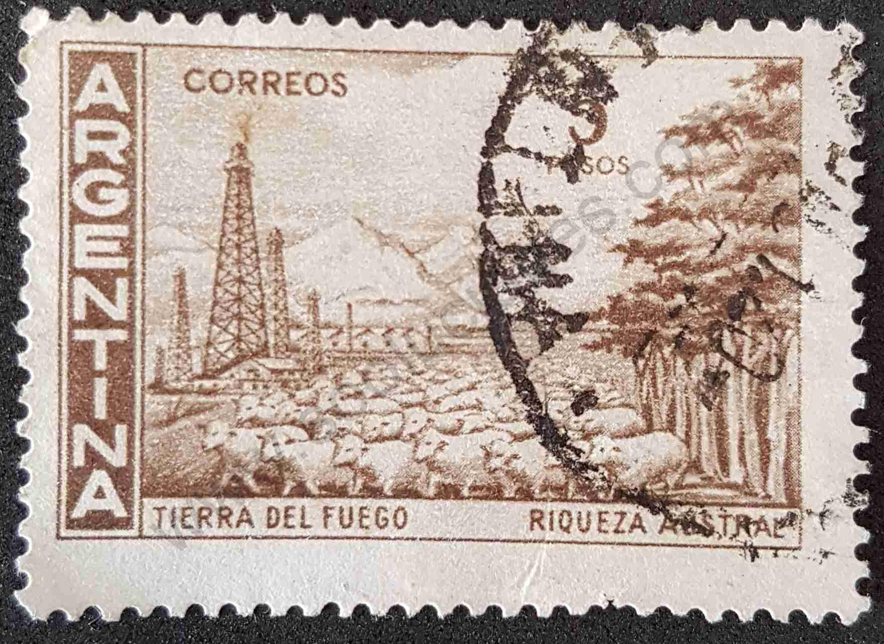 Tierra del Fuego - Sello Argentina 1959