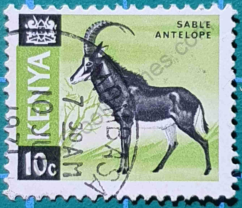 Antílope sable - Sello Kenia 1966