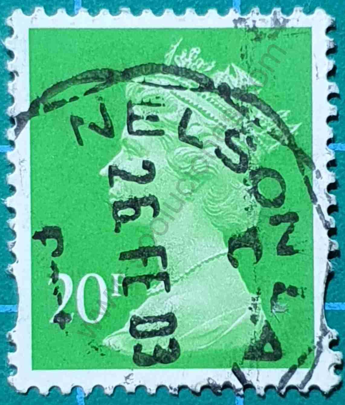 Elizabeth II 20p - Sello Reino Unido 1996