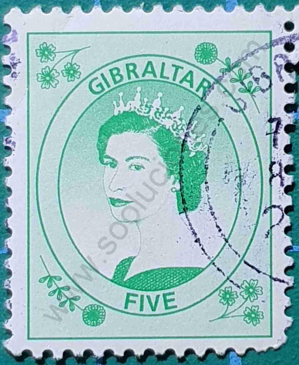 Reina Elizabeth - Sello Gibraltar 1999