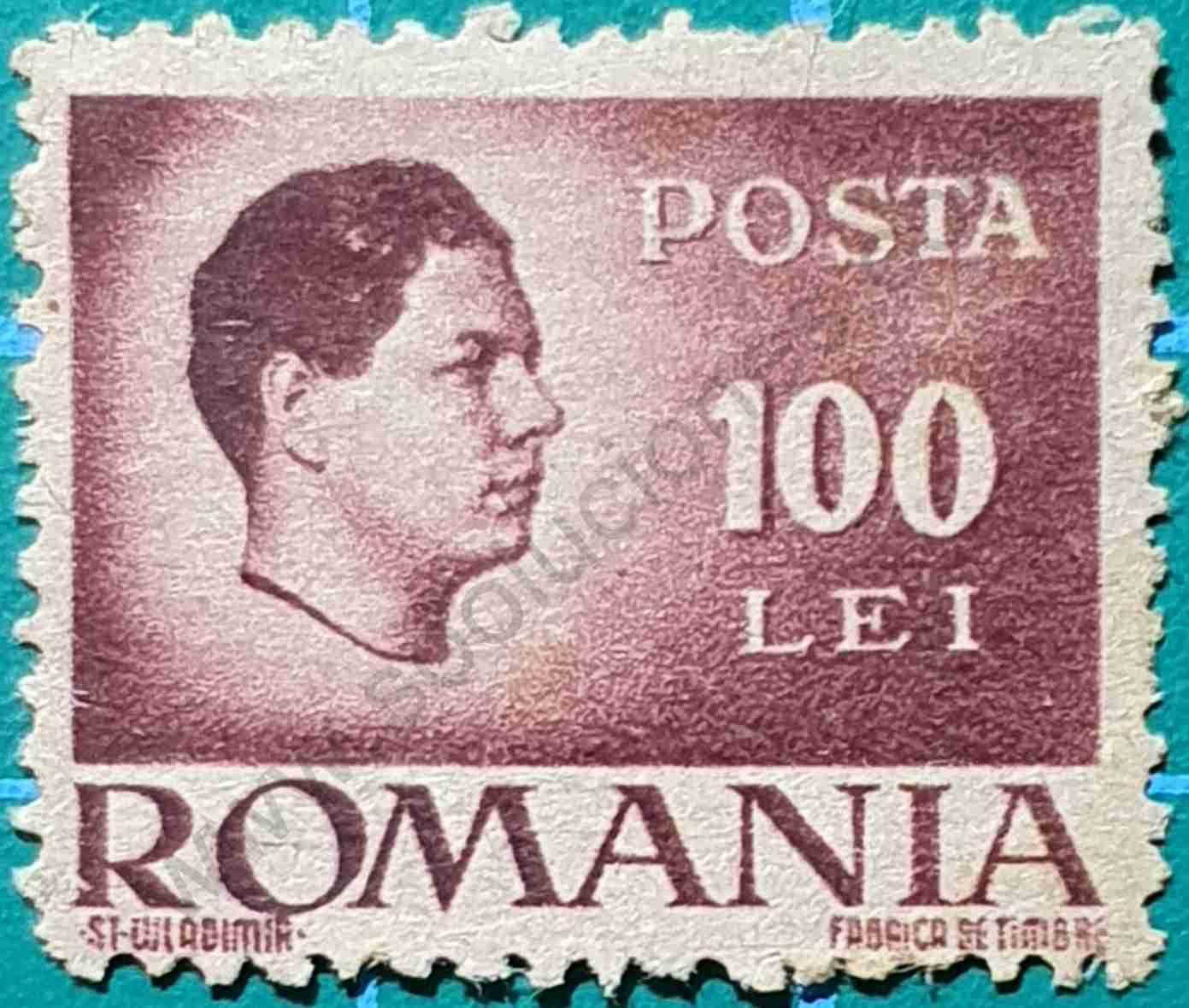 Rey Michael I - Sello Rumania 1945