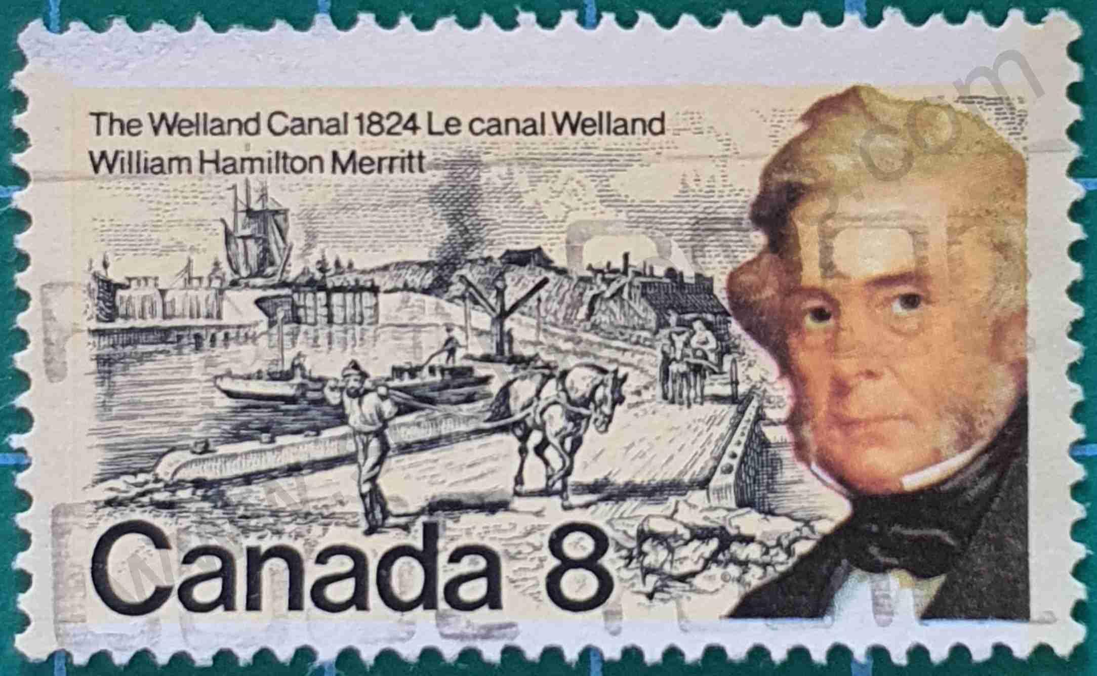 Canal Welland - Sello Canadá 1974