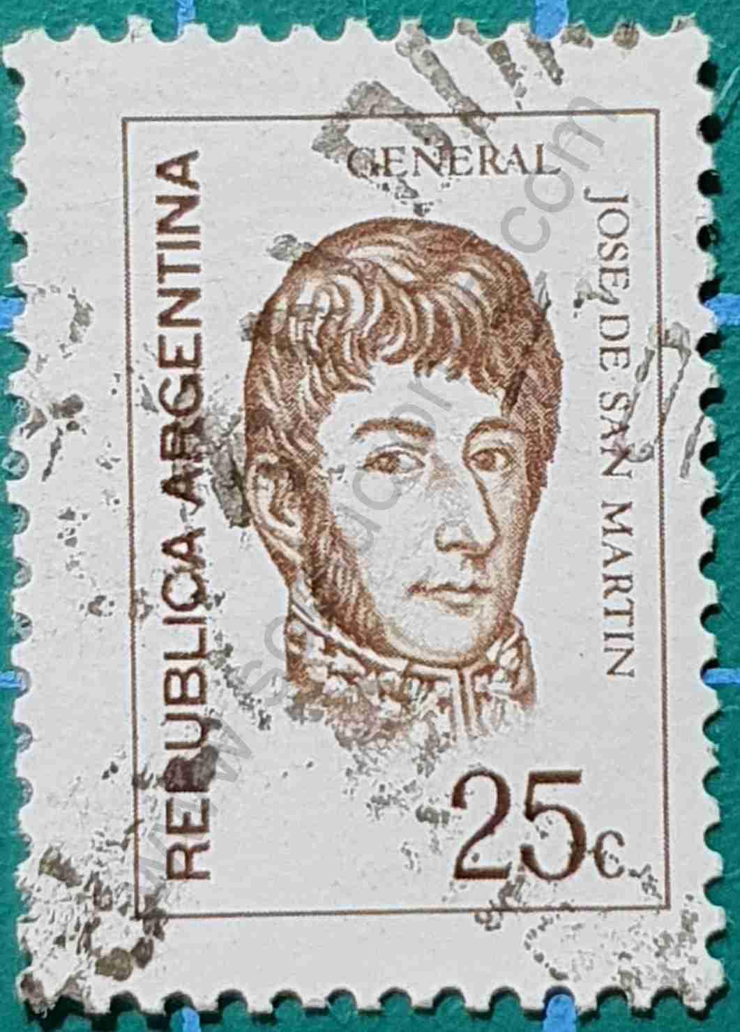 General San Martín - Sello Argentina 1971