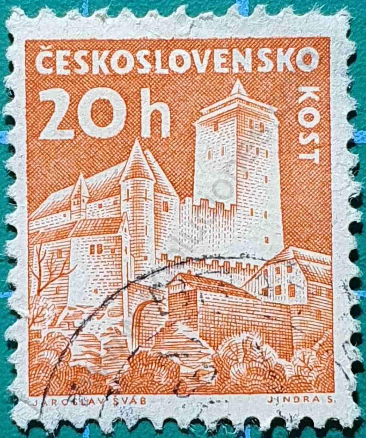 Castillo Kost - Sello Checoslovaquia 1960