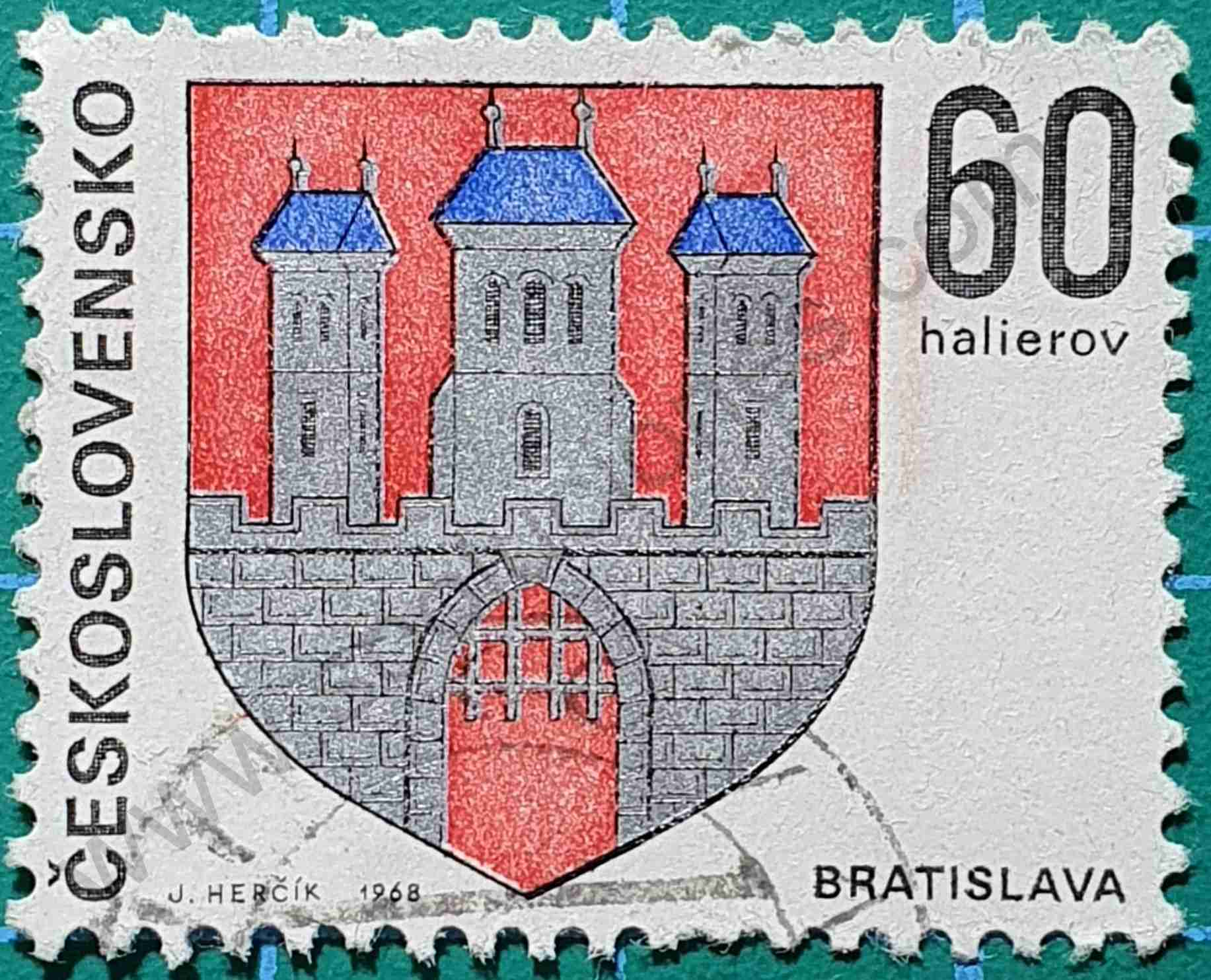 Escudo de Bratislava - Sello Checoslovaquia 1968
