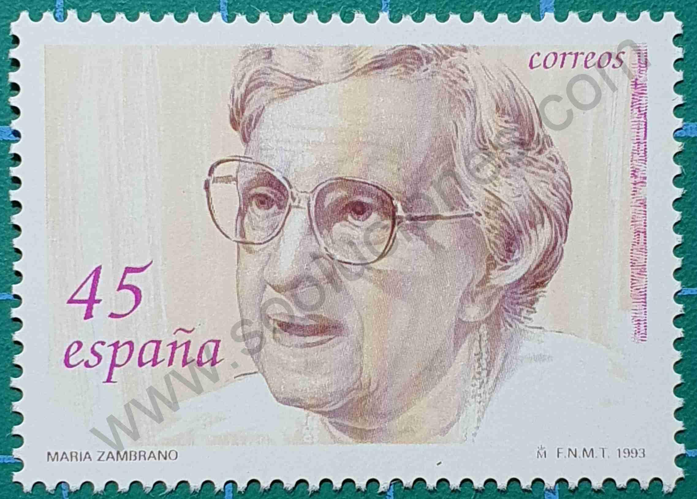 María Zambrano - Sello España 1993