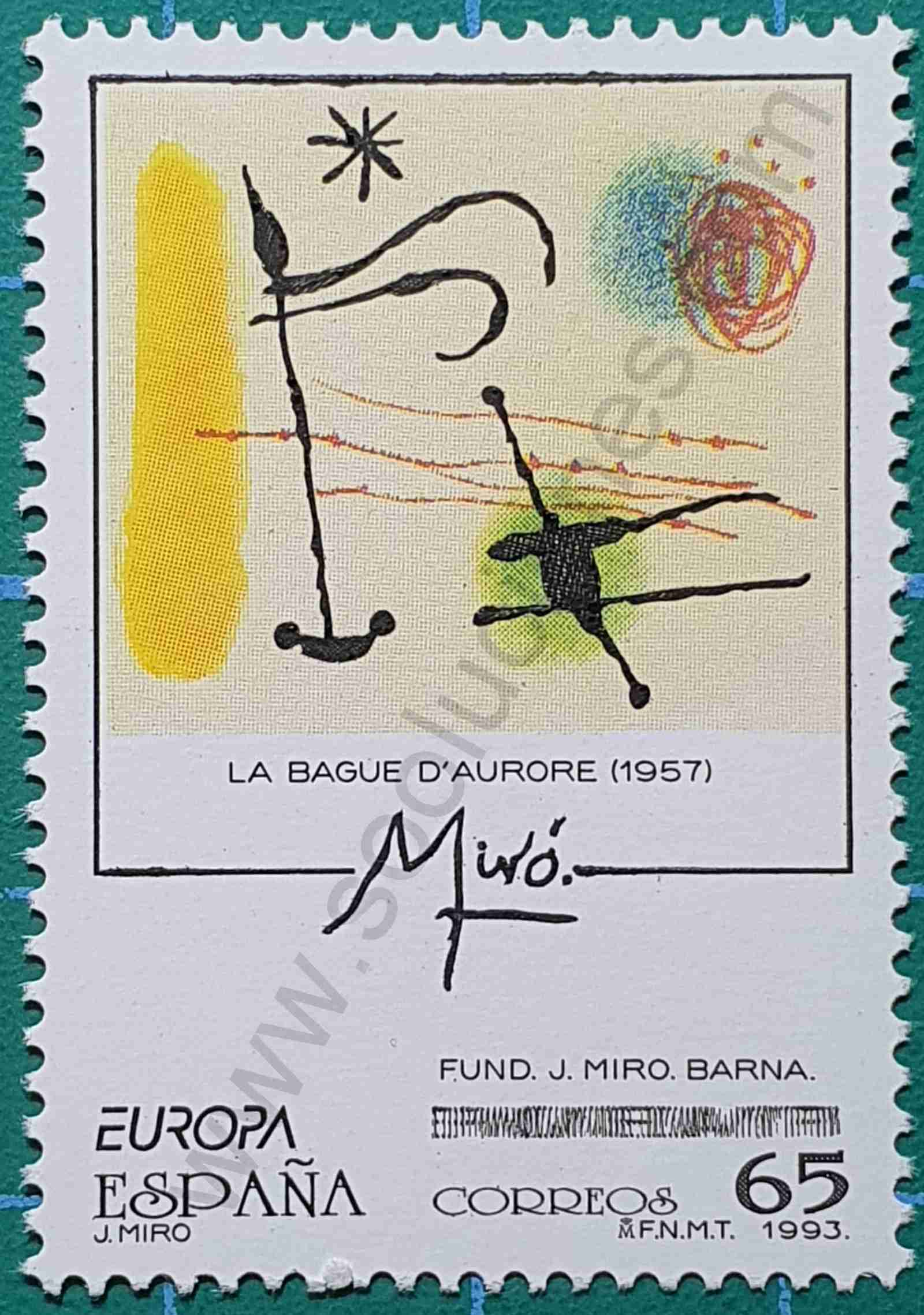 La Bague d'Aurore - Sello España 1993