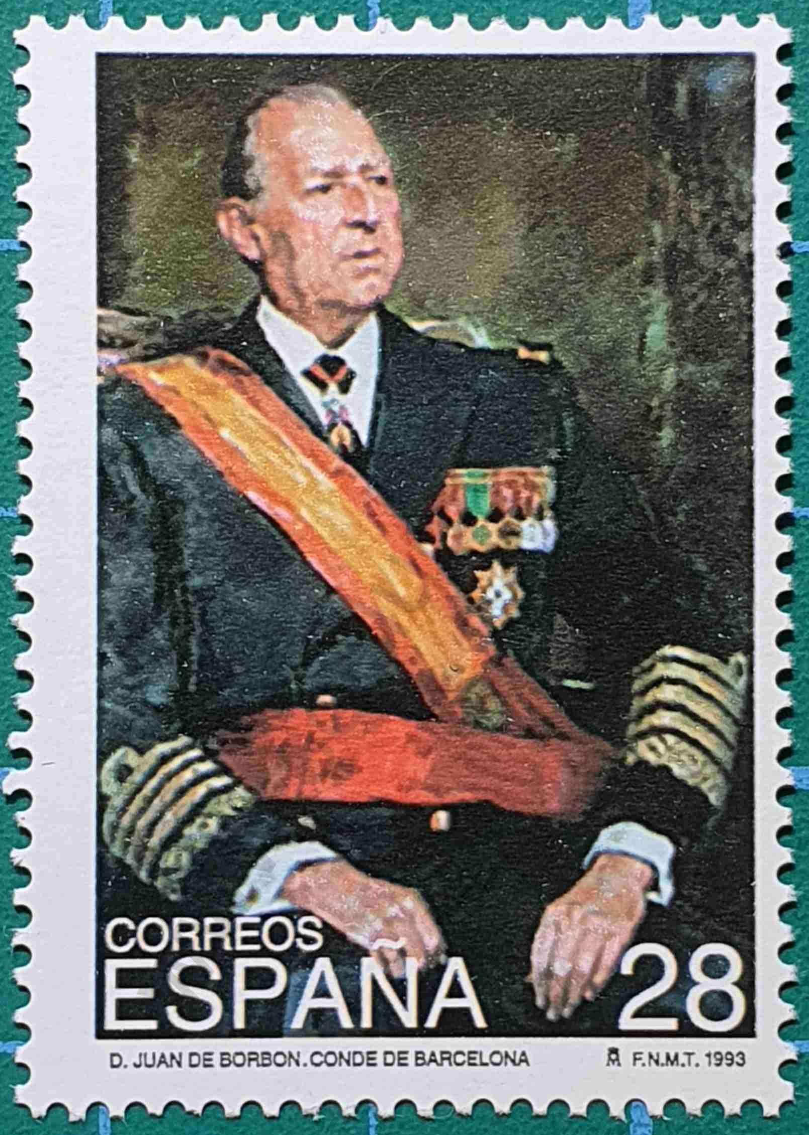 Juan de Borbón - Sello España 1993