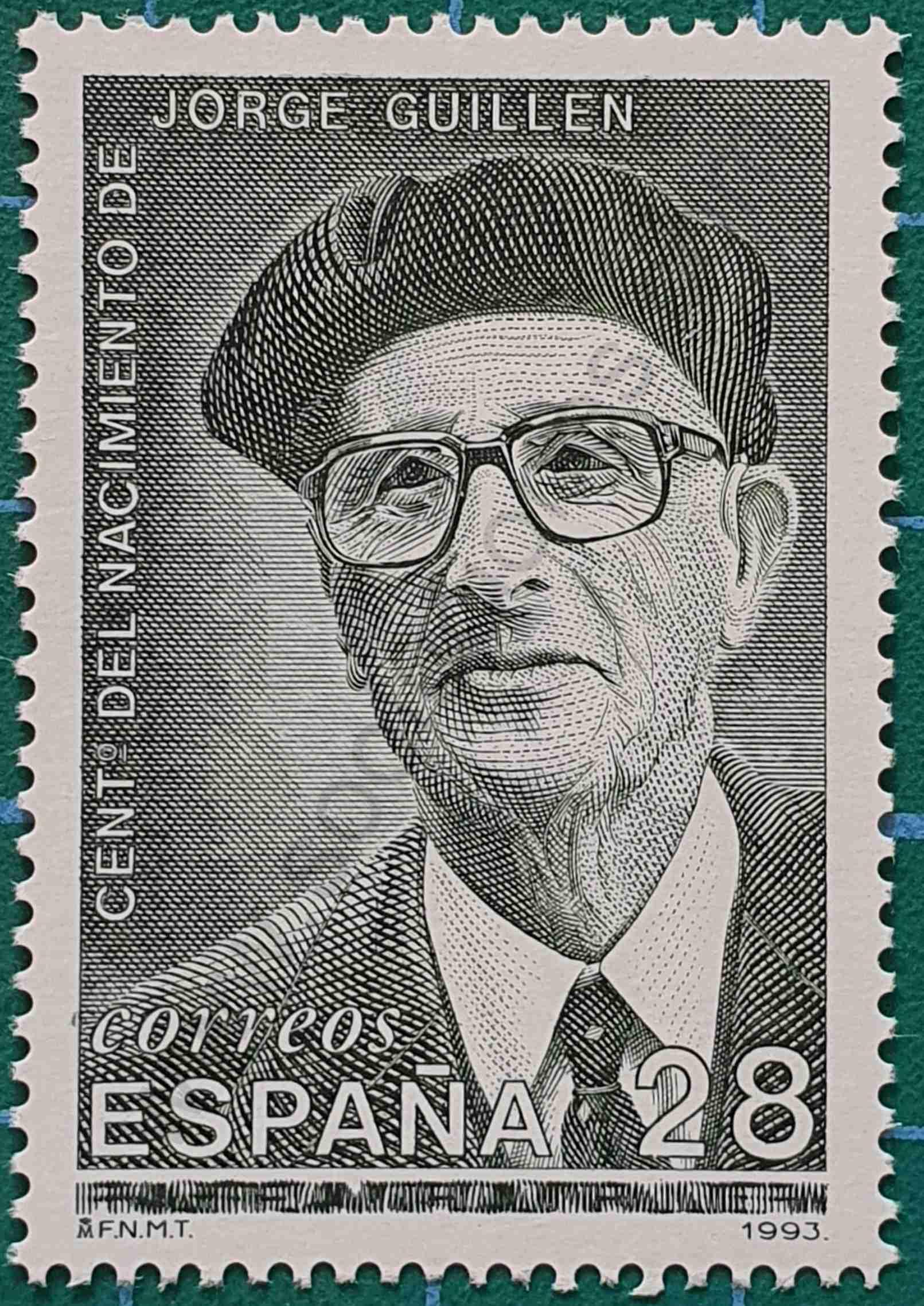 Jorge Guillén - sello España 1993