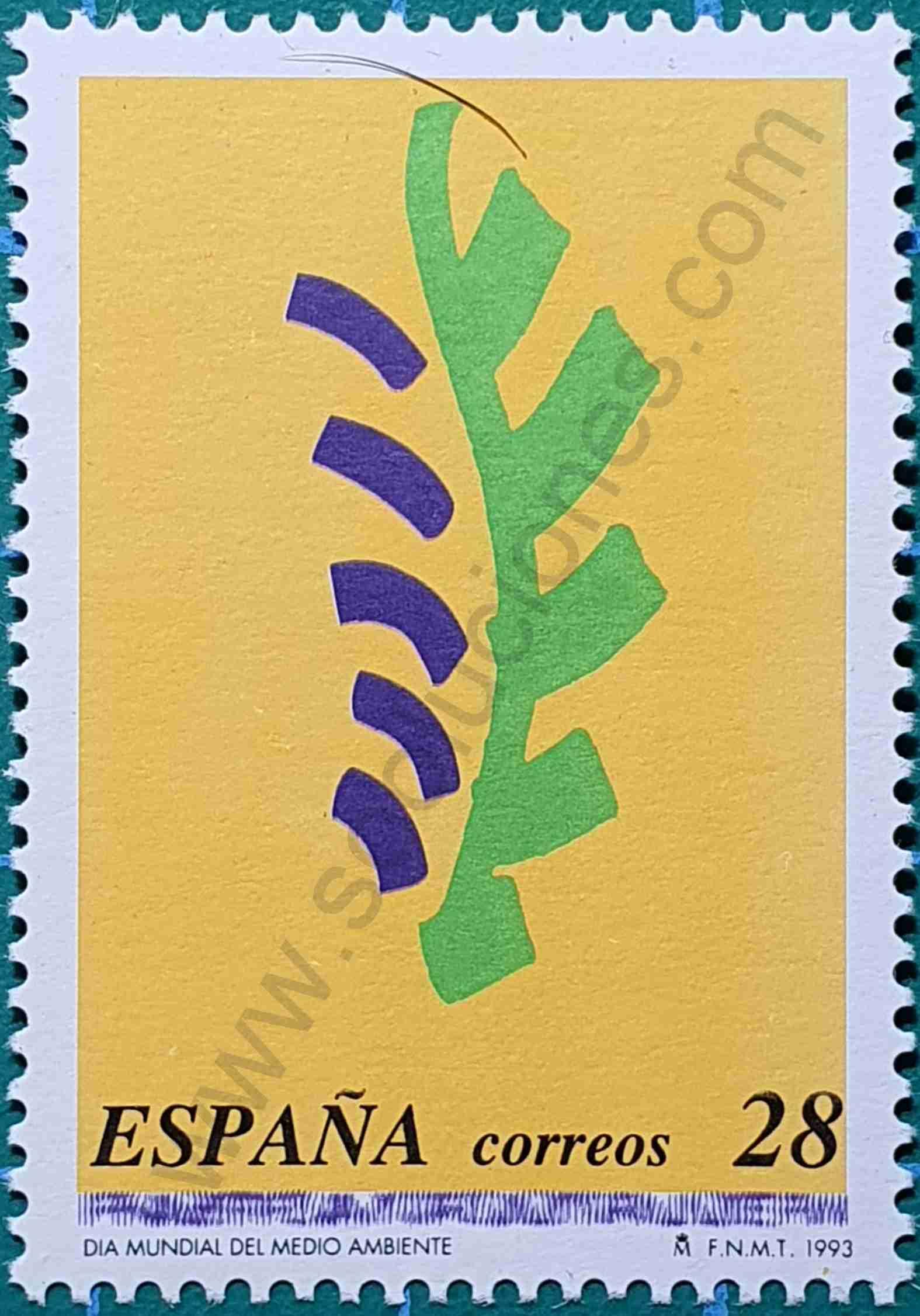 Día Mundial del Medio Ambiente - Sello España 1993