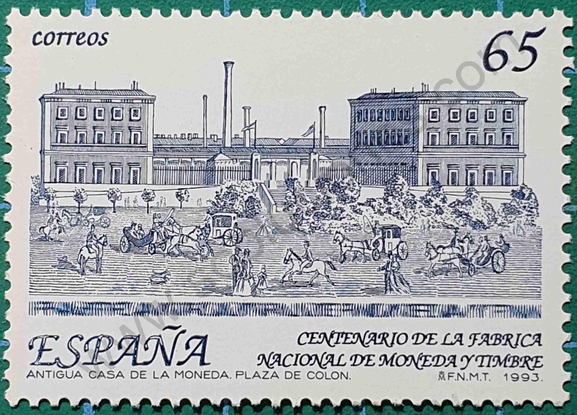 Fábrica Nacional de Moneda y Timbres - sello España 1993